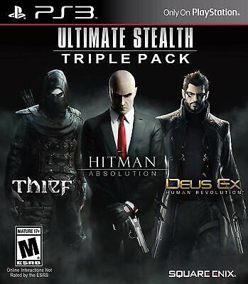 Usado, Ultimate Stealth Triple Pack, Thief, Hitman Absolution, Deus Ex Human Rev. PS3 comprar usado  Enviando para Brazil