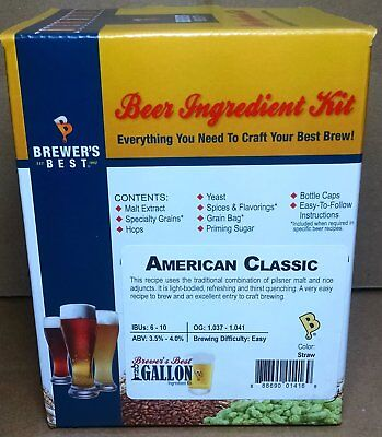 Brewer's Best American Classic One Gallon Home Brew Beer Making Ingredient