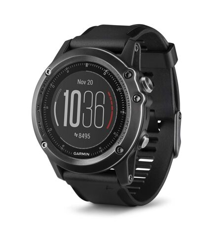 Garmin fenix 3 HR GPS Heart Rate Monitor Watch + Heart Rate Chest Strap Gray 010-01338-73