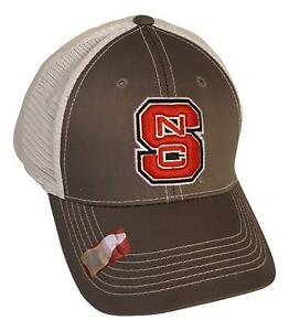 best sneakers 0ba56 0990a ... low price nc state wolfpack adjustable gray mesh snapback cap ncaa hat  d36a9 ca28b