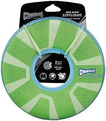 Chuckit Zipflight Dog Fetch Max Glow in The Dark Frisbee Ring Wiederaufladbarer