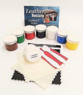 Leather & Vinyl Repair Kit Furniture, Boots, Shoes, Handbags, Cars Fix 7 colors