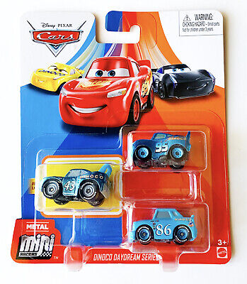 Disney Cars Mini Racers Dinoco Daydream Series Lightning The King Chick 3-Pack
