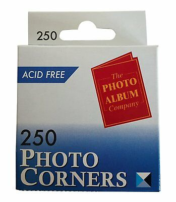 250 PHOTO CORNERS TRANSPARENT ACID FREE SELF ADHESIVE CHEAP DIY CRAFT PICTURES - Cheap Scrapbooks