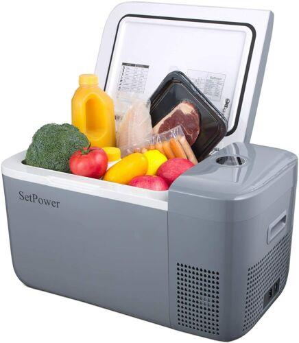 13.5 /21 Quart Portable Car Fridge Freezer Mini 12V Refrigerator Camping Travel