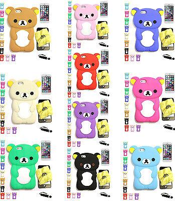 iPhone 6S 6 3D Cartoon Animal Rilakkuma Bear Soft Skin Silicone Case
