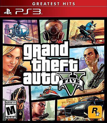 Grand Theft Auto 5 V  Playstation 3 Ps3  Greatest Hits  Action Carjacking  New
