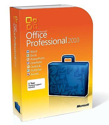 Microsoft Office 2010 Professional 1 Computer Full Version