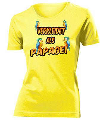 Karnevalskostüm - Faschingskostüm - VERKLEIDET ALS PAPAGEI T-Shirt Damen - Papagei Kostüm