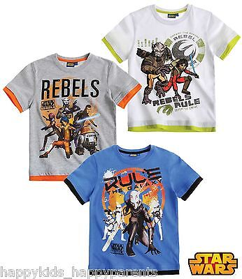 Boys Official STAR WARS REBELS Top SHORT Sleeved T- Shirt  Age 4 -10 Years