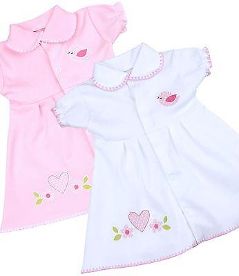 Robe BabyPrem prématurés Preemie Vêtements de bébé Filles Blanc Rose 32 - 50cm