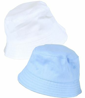 BabyPrem Baby Boys Summer Sun Hats Blue & White Bucket Hat NB 3 6 12 18m