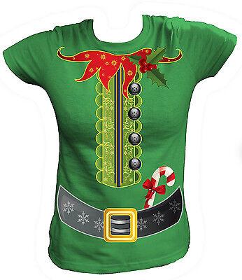 Damen T-Shirt - Weihnachten Elfenkostüm Kostüm Elf Elfe Merry Christmas - Übergröße Damen Elf Kostüm