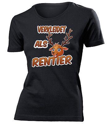 Karnevals- Faschingskostüm - VERKLEIDET ALS RENTIER T-Shirt Damen S-XXL ()