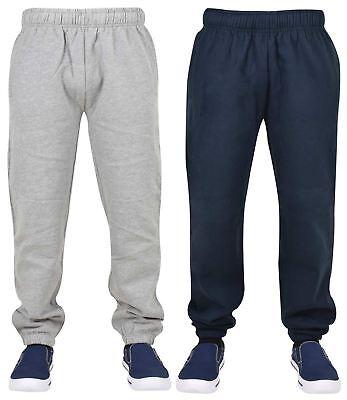 New Mens Plain Fleece Pocket Jogging Bottoms Comfort Jogger Pant Elasticated Hem