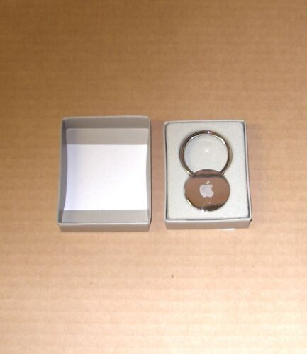 """Apple Logo """"Silver Circle Keychain"""" by Apple - NEW in the Box"""