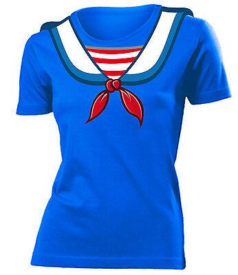 Matrosen Kostüme (Karnevalskostüm -MATROSEN KOSTÜM T-Shirt Damen S-XXL)