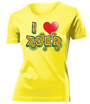Karnevalskostüm -I LOVE 70ER T-Shirt Damen - Weibliche Übergröße Kostüm