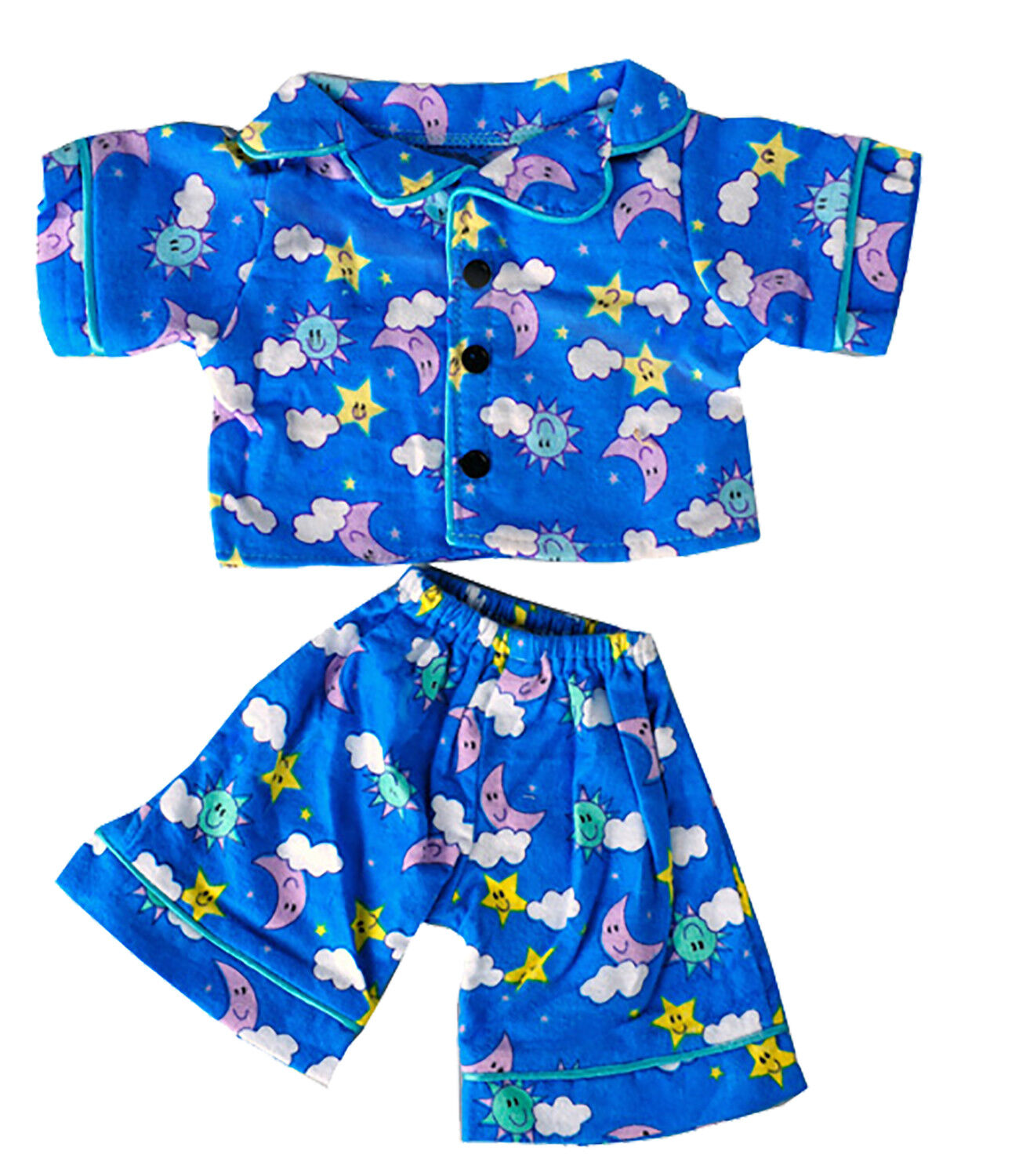 "Sunny Days Blue Pj's Teddy Bear Clothes Fits Most 14"" - 18"" Build-A-Bear & More"