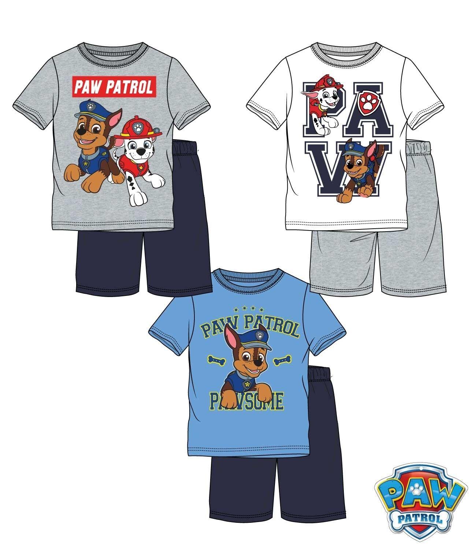 Schlafanzug Shorty Pyjama Junge Kinder Paw Patrol Disney T-Shirt Gr. 104-128 Neu