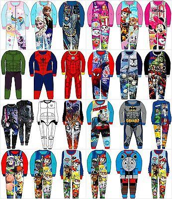 Disney Marvel 1onesie All In One Pyjamas Kids Boys Girls Character Fleece New