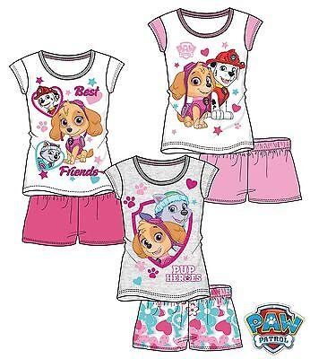 Disney Paw Patrol Pyjama Mädchen kurzarm Shorty ()