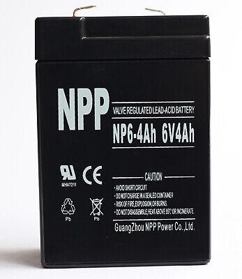 NPP 6V 4ah 6Volt 4amp Rechargeable Sealed Lead Acid Battery