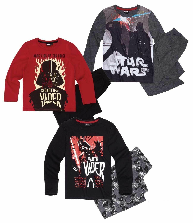 Star Wars Kinder Jungen Schlafanzug langarm Gr. 116-152 Pyjama Nachtwäsche neu!