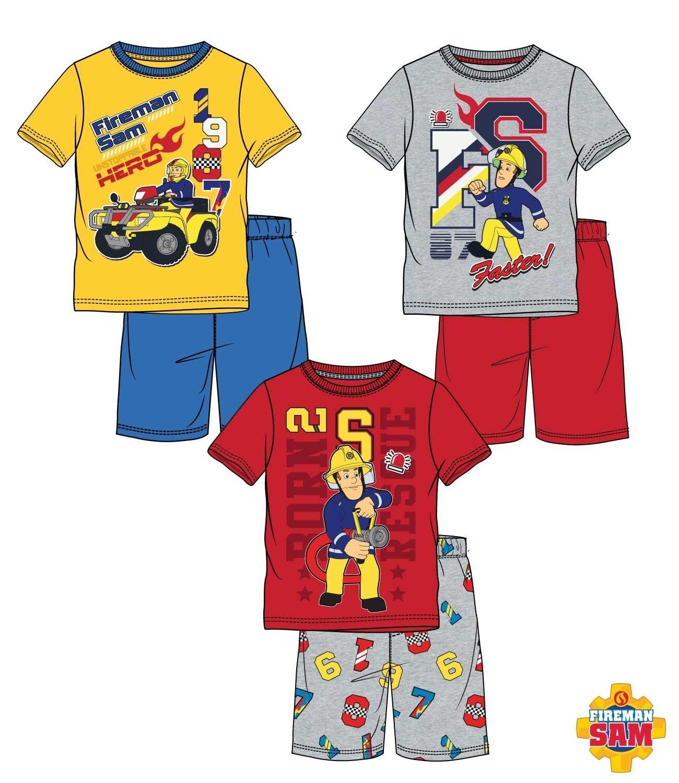 e378484982 Schlafanzug Shorty Pyjama Junge Kinder Feuerwehrmann Sam fireman Gr. 98-116  Neu*