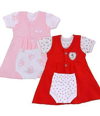 BabyPrem Premature Preemie Baby Girls Clothes 3 Piece Dress Set Pants T-Shirt