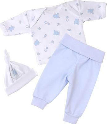 BabyPrem Premature Baby Clothes for Boys Tiny Outfit 3pc Set - 1.5 - 7.5lb