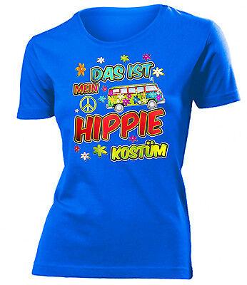 KARNEVAL - FASCHING - DAS IST MEIN HIPPIE KOSTÜM T-Shirt Damen - Hippie Shirt Kostüm