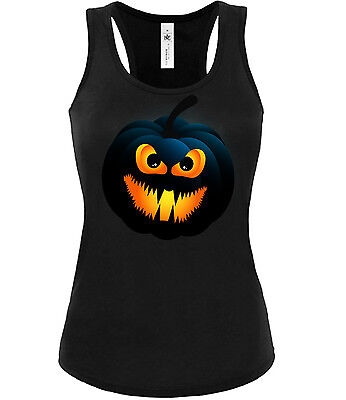 Halloween - Dark Pumpkin Face - Kostüm - Kürbis gesicht Tank Top Damen S-XL
