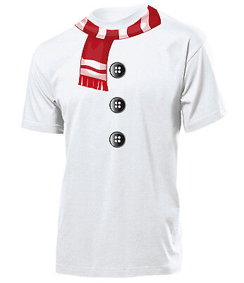 SCHNEEMANN KOSTÜM T-Shirt Herren S-XXL (Herren Schneemann-kostüm)