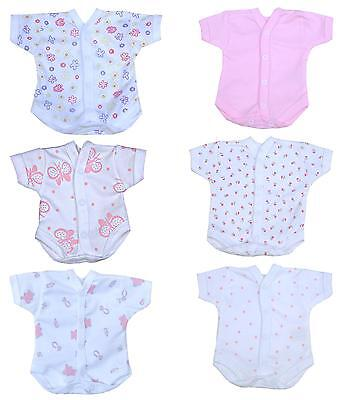 Premature Tiny Preemie Baby Clothes Neonatal SCBU NICU Bodysuit Vest Girl - IMP