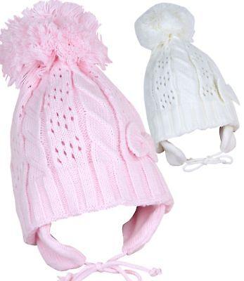 babyprem vêtements de bébé filles hiver Chapeaux détail nœud POM BONNET BEANIE