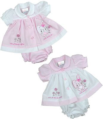 BabyPrem PREEMIE MICRO Baby Clothes Girls Dresses Pink Bunny Dress 3 - 8lb