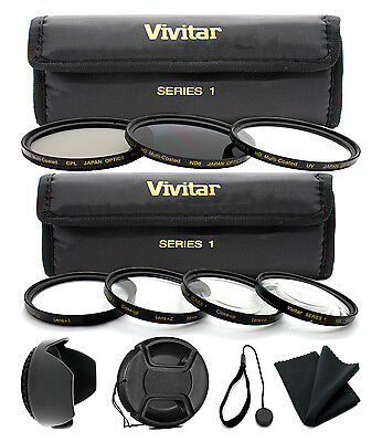 58mm Lens Filter & Close Up Macro Kit For Canon Eos Rebel...