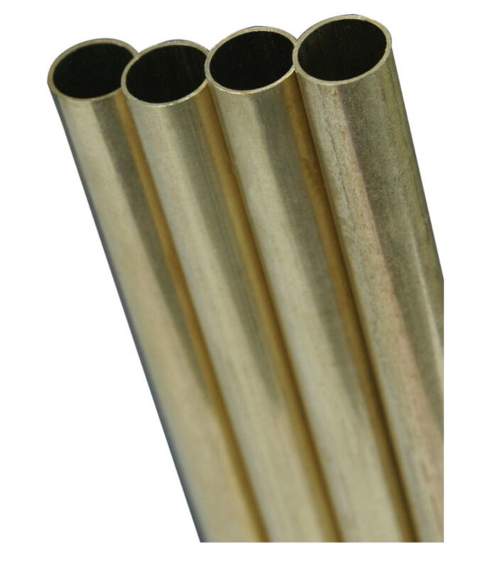 "K&S 8135 Round Brass Tube, 3/8"" x 12"""