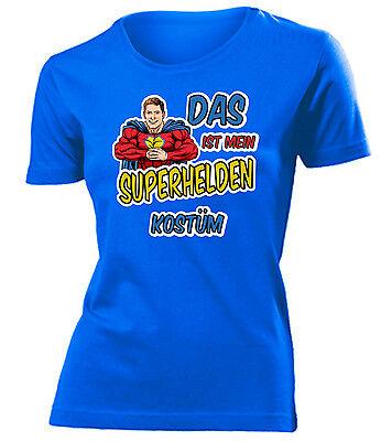 Karnevalskostüm -Das ist mein Superhelden Kostüm T-Shirt Damen - Superhelden Damen