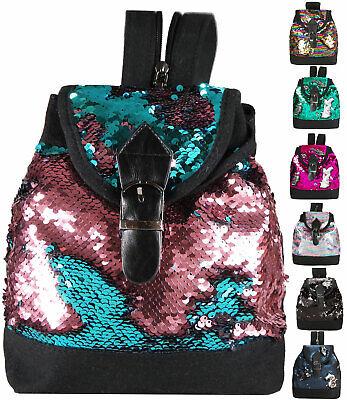 Mini Rucksack Handtasche Glitzer Wendepailletten Tasche Damen Mädchen - ranya2