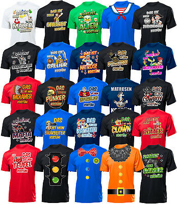 Herren Kostüme T-Shirt Karneval Fasching Faschingskostüm Karnevalskostüm -