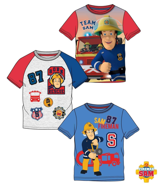 Feuerwehrmann Sam T-Shirt Jungen Gr. 98-128
