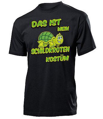 KARNEVAL - FASCHING - DAS IST MEIN SCHILDKRÖTEN KOSTÜM T-Shirt Herren S-XXL