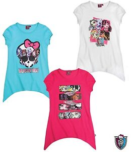 Girls NWT OFFICIAL LICENSED MONSTER HIGH TOP TSHIRT TUNIC 7 8 9 10 11 12 13 14