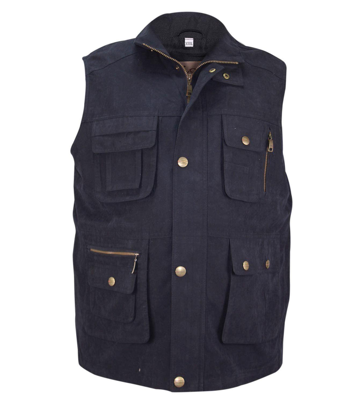 new mens multi pockets waistcoat body warmer safari