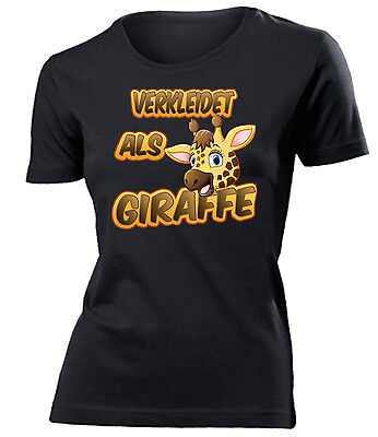 Karnevals- Faschingskostüm - VERKLEIDET ALS GIRAFFE T-Shirt Damen S-XXL