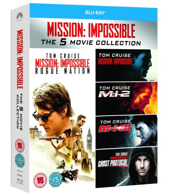 MISSION IMPOSSIBLE 5 Movie Collection BLU RAY BOXSET ALL REG 5 DISC TOM CRUISE