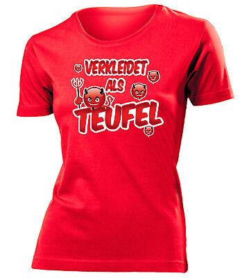 Karnevalskostüm -Verkleidet als Teufel T-Shirt Damen - Weibliche Übergröße Kostüm