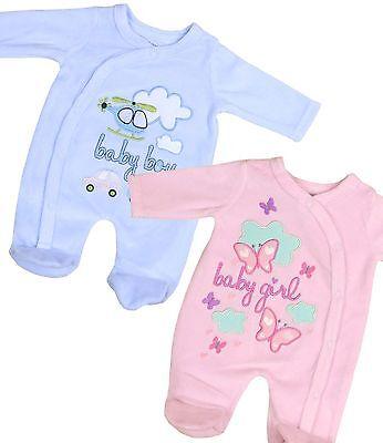 BabyPrem Preemie Tiny Baby Boys Girls Clothes Velour Sleeper One-Piece 3 - 8lb